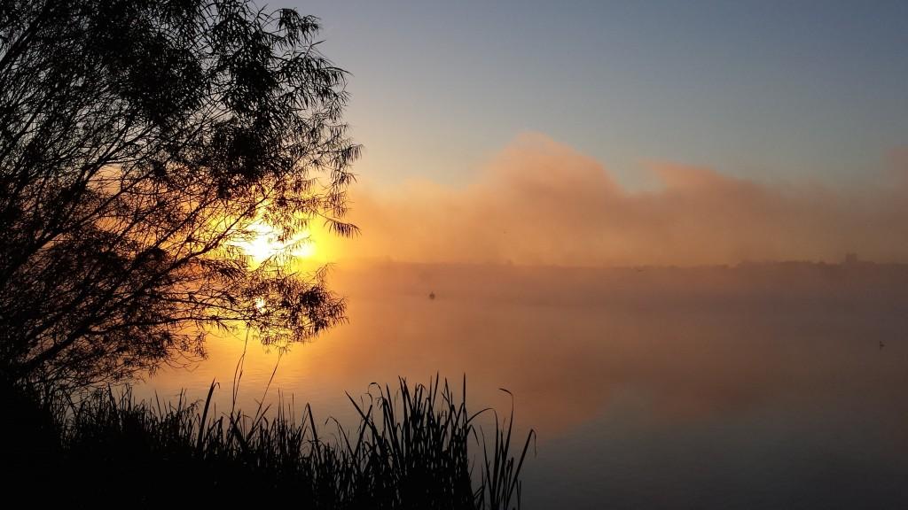 pit at dawn