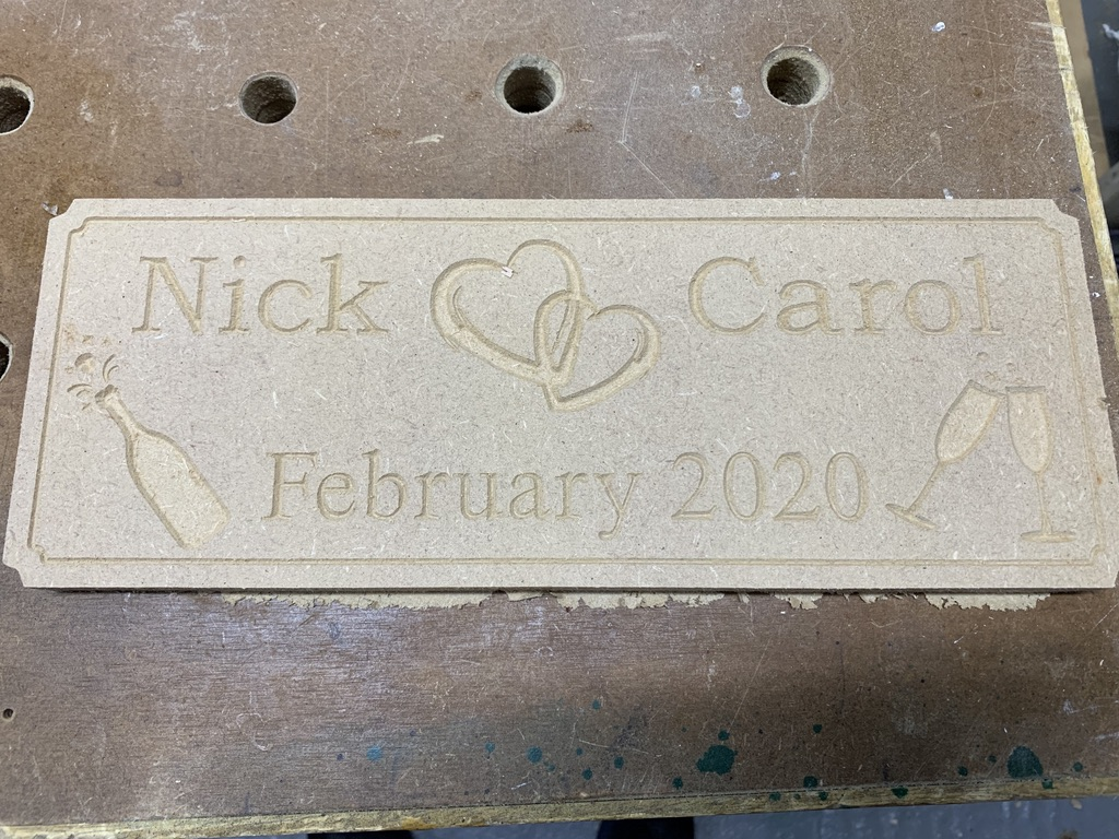 V Carving in MDF wasn't great