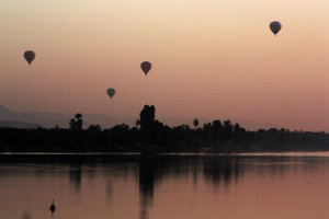 Early morning balloon flights over the Nile